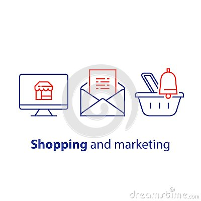 Free Abandoned Cart Email Remainder, Online Shopping And Marketing Strategy, News Letter Subscription, Sales Improvement Royalty Free Stock Image - 111313766