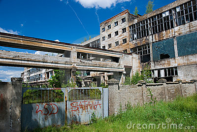 Abandoned chemical factory