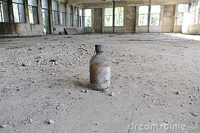 Abandoned chemical lab. Editorial Photography