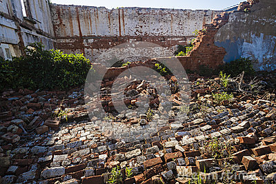 Abandoned Collapsed Building