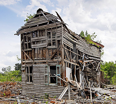 Abandoned Collapsing House