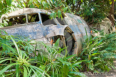 Abandoned crashed plane in Kuranda, Queensland