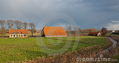 Abandoned and dilapidated farm in the Netherlands.
