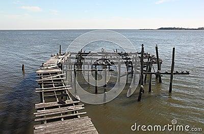 Abandoned dock in Cedar Key, Florida