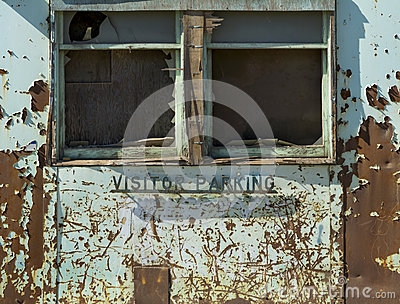 Abandoned Factory Visitor Parking Exterior