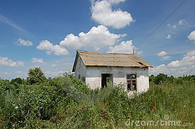 Abandoned farm. Near Chernobyl area.  Kiev region