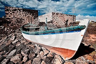 Abandoned fishermen boat