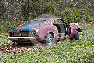 Abandoned 1969 Ford Mustang Fastback