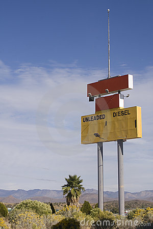 Abandoned Gas Station Sign