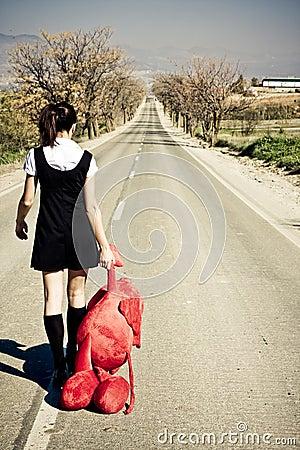 Abandoned girl