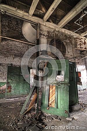 Abandoned Green Door