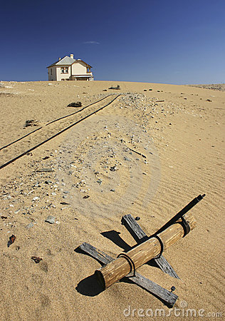 Abandoned house in desert