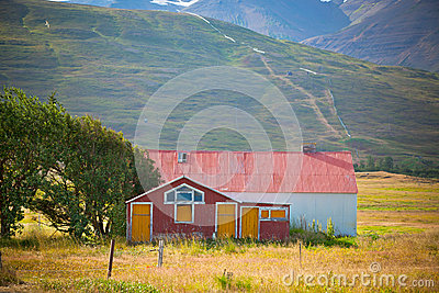 Abandoned House at North Iceland foothill