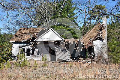 Abandoned House Ruin Stock Photo