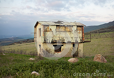 Abandoned house in state of disrepair