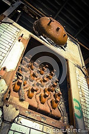 Abandoned industrial boiler