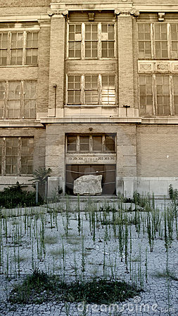 Free Abandoned Inner City School Royalty Free Stock Photos - 3965358