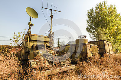 Abandoned military vehicles