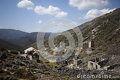 Abandoned mine buildings