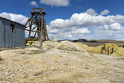 Abandoned mine in the Nevada Desert