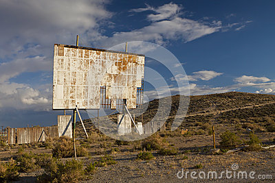 Abandoned Movie Screen