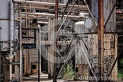 Abandoned oil refinery