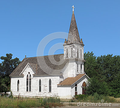 Free Abandoned Old Christian Church Stock Image - 29813431