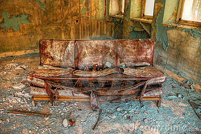 Abandoned old sofa