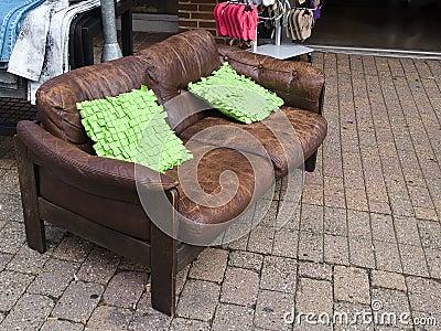 Abandoned old sofa