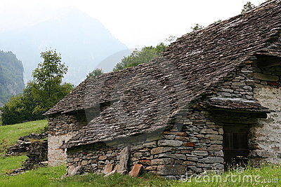 Abandoned old stoned house