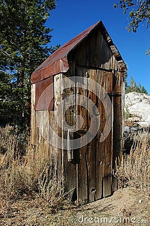 Abandoned Outhouse Royalty Free Stock Photography Image