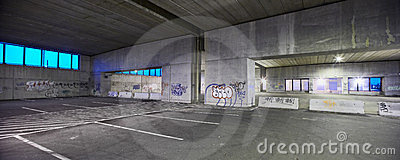 Abandoned parking garage