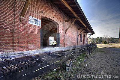 Abandoned railroad depot