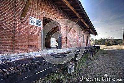 Abandoned railroad depot