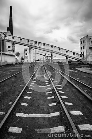 Free Abandoned Railway Industrial Power Complex Royalty Free Stock Images - 127897119
