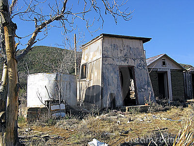 Abandoned ranch buildings