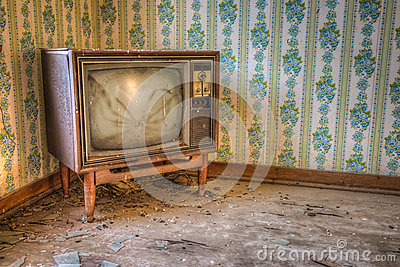 Abandoned Retro Television