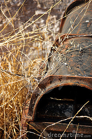 An abandoned rusty water pipe