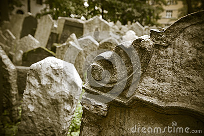 Abandoned spooky grave yard