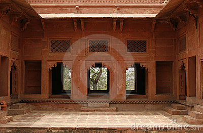 Abandoned temple in Fatehpur Sikri complex, India