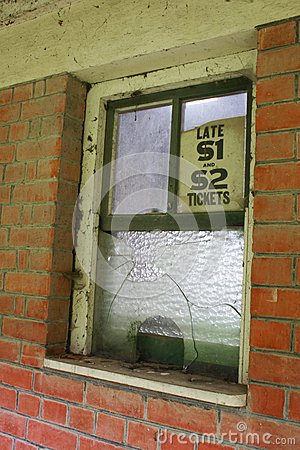 Abandoned ticket office