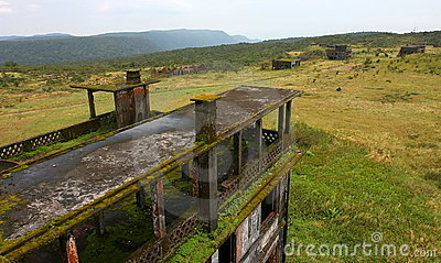 Abandoned town Bokor Hill. Kampot. Cambodia.
