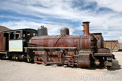 Abandoned train, Pulacayo, Bolivia