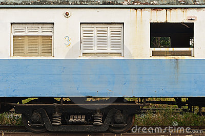 An abandoned train s bogie