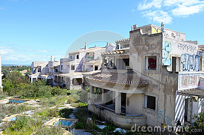 Abandoned unfinished algarve building  project