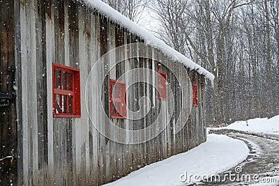 Abandoned  vintage barn.