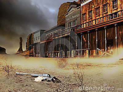Abandoned western town
