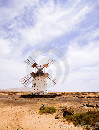Abandoned windmill, Spain