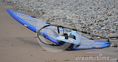 Abandoned windsurfer