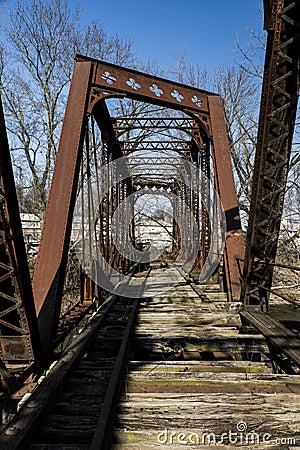 Free Abavndoned Railroad Bridge - Pennsylvania Stock Photo - 86104950